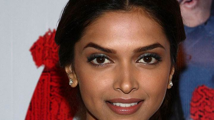 Deepika Padukone Smiling Wet Lips Face Closeup