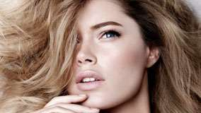 Doutzen Kroes Golden Hairs Face Closeup