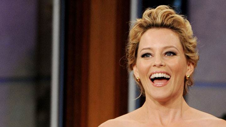 Elizabeth Banks Laughing And Open Mouth Face Closeup