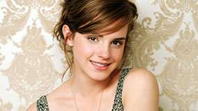 Emma Watson Smiling Pink Lips Face Closeup