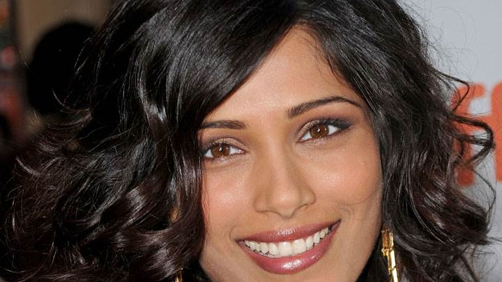 Face Closeup Picture Of Freida Pinto