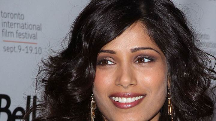 Freida Pinto Looking Sweet Face Closeup