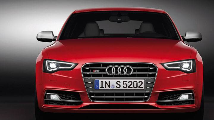 Front Closeup of Red 2012 Audi S5 Sportback