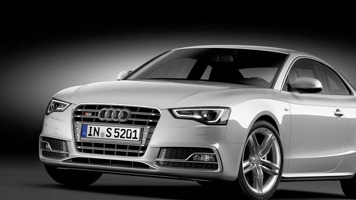 Front View of 2012 Audi S5 Coupe in Silver