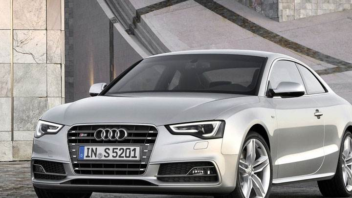 Front View of Silver 2012 Audi S5 Coupe
