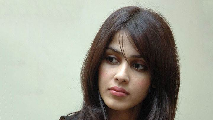 Genelia D'souza Pink Lips Sad Face Closeup