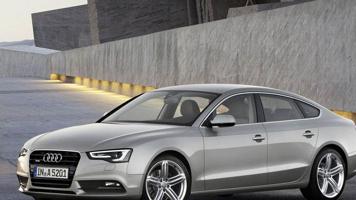 Grey Color 2012 Audi A5 Sportback Parked Outside