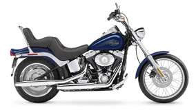 Harley Davidson Softail Custom Fxstc in Blue Color