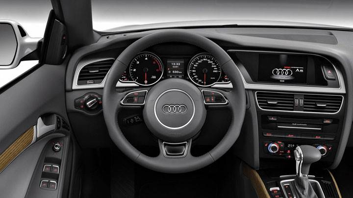 Interior And Dashboard of Audi A5 Cabriolet 2012