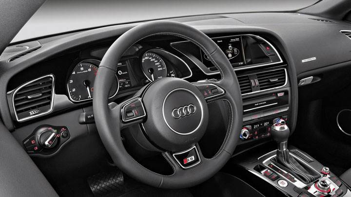 Interior of 2012 Audi S5 Coupe