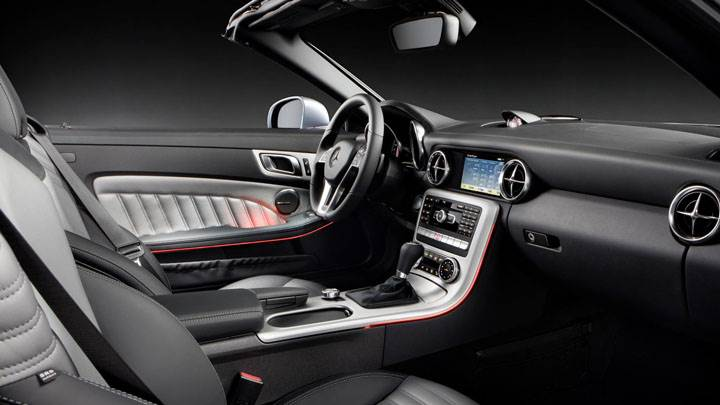 Interior of Mercedes-Benz SLK 350