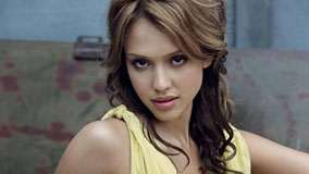 Jessica Alba Face Closeup And Wet Pink Lips