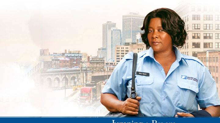 Jumping The Broom – Loretta Devine In Blue Dress