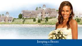 Jumping The Broom – Paula Patton Smiling With Wedding Flowers