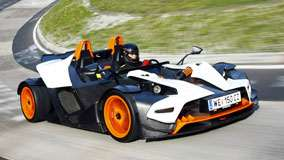 KTM X-Bow Running on Race Cource