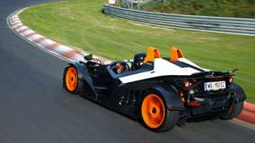 KTM X-Bow Side Back Pose on Racing Tracks