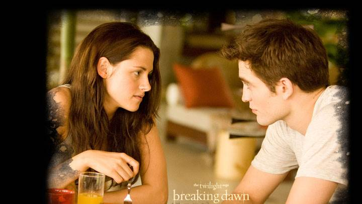Kristen Stewart And Robert Pattinson Eating