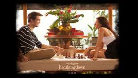 Kristen Stewart And Robert Pattinson Playing Chess