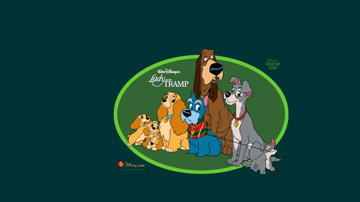 Lady And The Tramp – Green Background