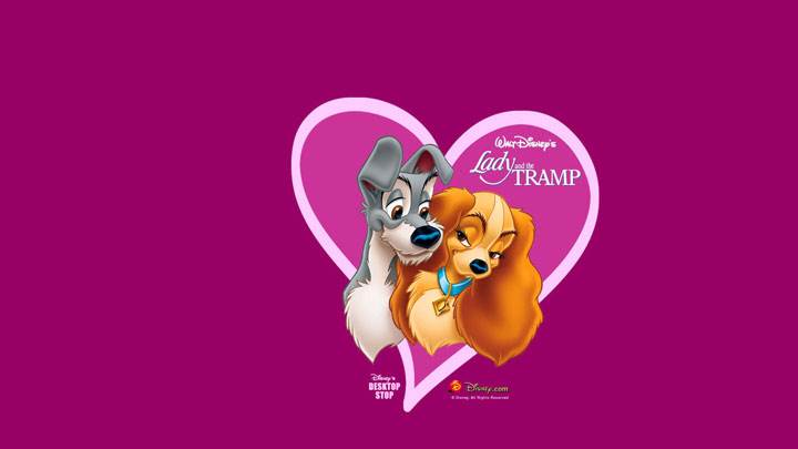 Lady And The Tramp – Pink Background