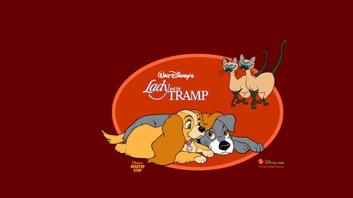 Lady And The Tramp – Red Background