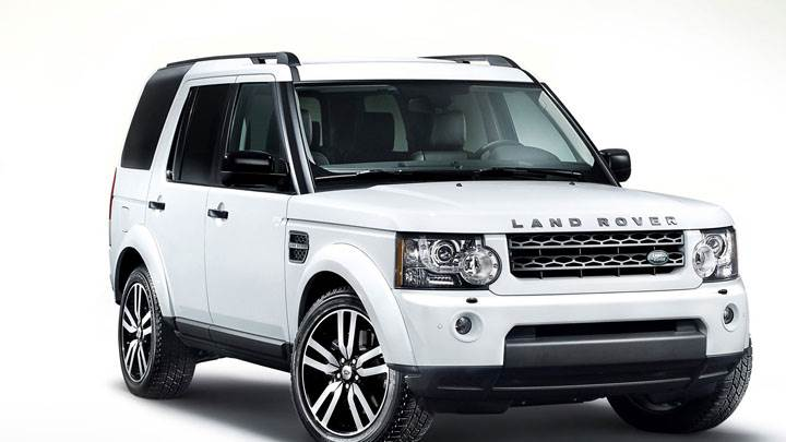 Land Rover Discovery in White Side Front Pose