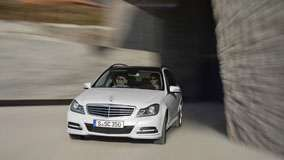 Mercedes-Benz C-Class C350 Racing on Road