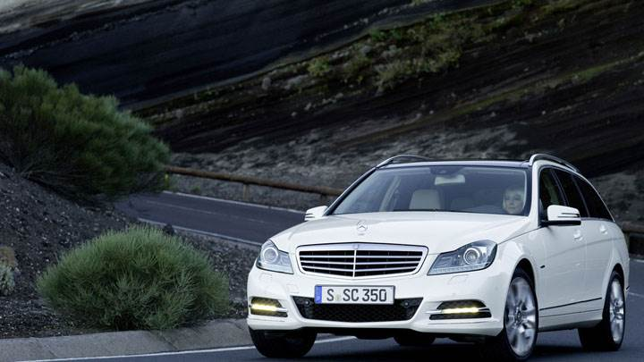 Mercedes-Benz C-Class C350 on Highway