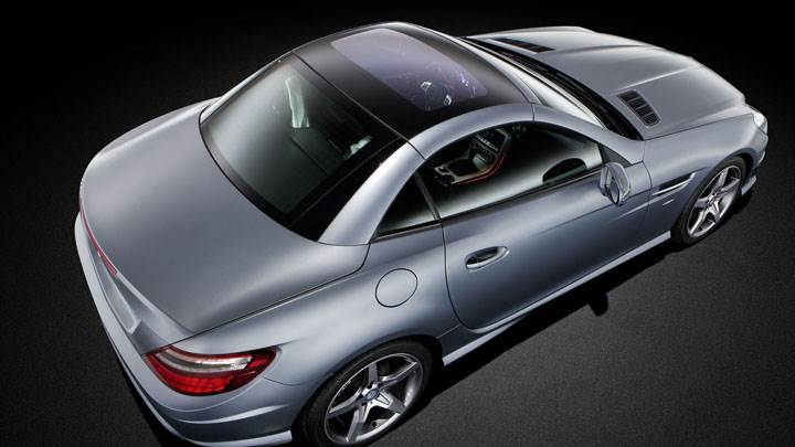 Mercedes-Benz SLK 350 Side Top View
