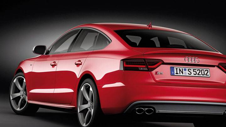Red 2012 Audi S5 Sportback Back View