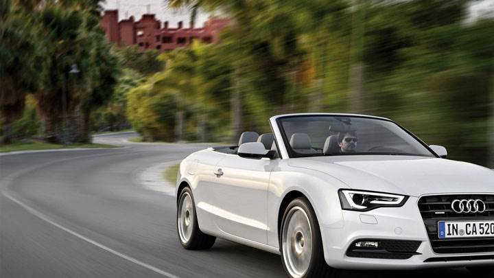 Running On Highway Audi A5 Cabriolet