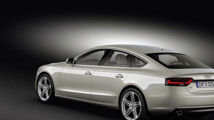Side Back Pose of 2012 Audi A5 Sportback