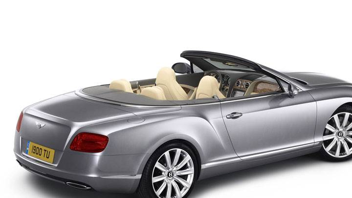 Side Back View of 2012 Bentley Continental GTC