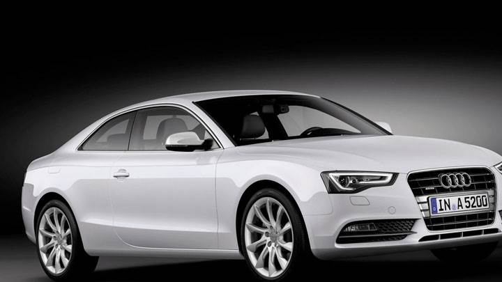 Side Front Pose Of 2012 Audi A5 Coupe Wallpaper