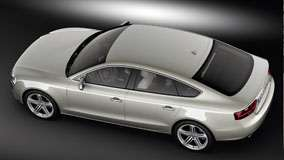 Side Top View of 2012 Audi A5 Sportback