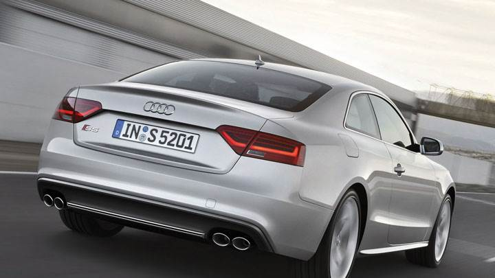 Silver 2012 Audi S5 Coupe On Street