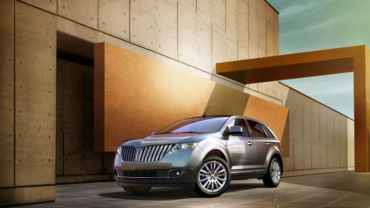 Silver Lincoln MKX Parked Outside