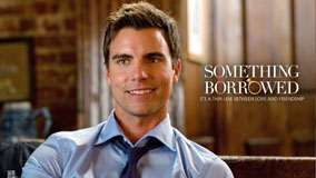 Something Borrowed – Colin Egglesfield Sitting In Blue Shirt