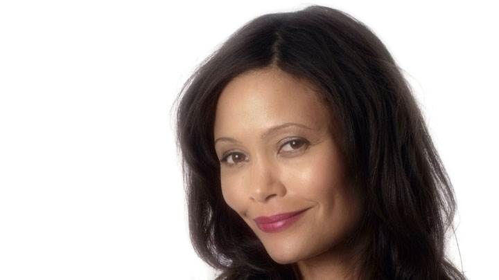 Thandie Newton Smiling Face Closeup & Pink Lips