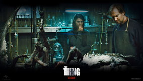 The Thing – Ulrich Thomsen And Mary Elizabeth Winstead In Lab