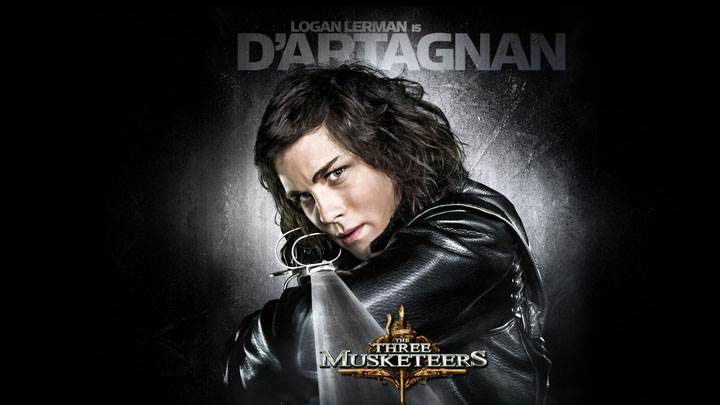 The Three Musketeers – Logan Lerman Looking Front With Sword