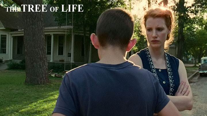 The Tree Of Life – Jessica Chastain With Boy On Road