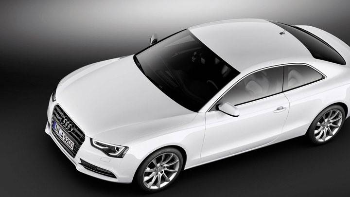 Top View of 2012 Audi A5 Coupe