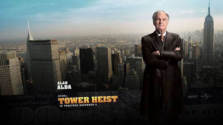 Tower Heist – Alan Alda In Long Black Coat