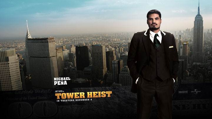 Tower Heist – Michael Pena In Black Coat