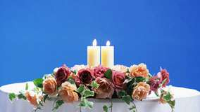 Two Candles On Wedding Table