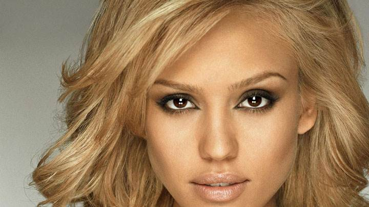 Ultra Face Closeup Of Jessica Alba