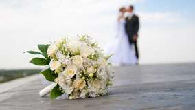 Wedding Flowers On Ground
