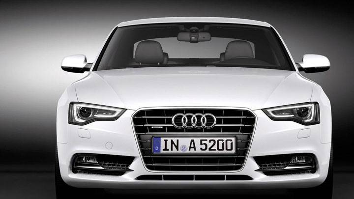 White Front Closeup of 2012 Audi A5 Coupe