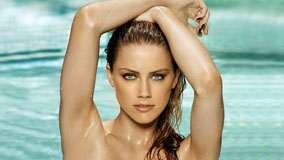 Amber Heard Looking Front In Swimming Pool And Wet Body Photoshoot